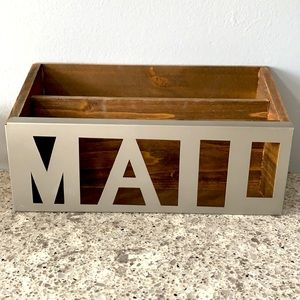 Wooden MAIL Storage Container